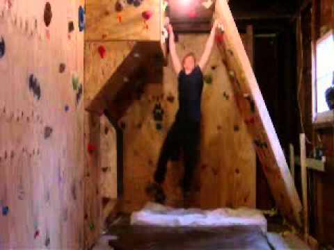 My Garage Climbing Wall YouTube