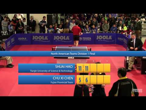 2013 JOOLA / NATT Teams Final: Shuai Hao vs Chu Xi Chen