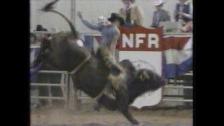 Bull Riding - 1984 NFR Rodeo Go Round Highlights and 10th Round