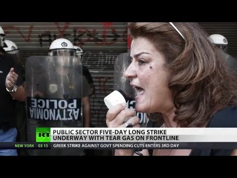 Austerity Fury: Striking Greeks clash with police, teargased as crisis deepens