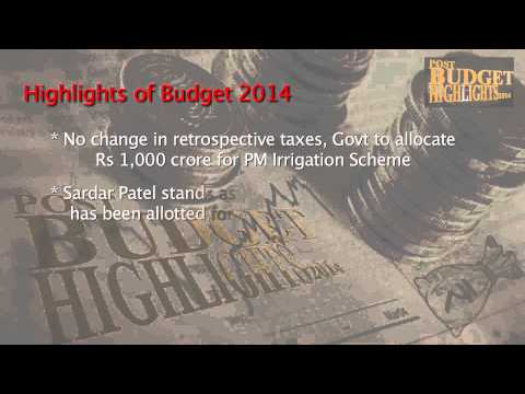 Indian Budget Highlights 2014- Arun Jaitley. (Part 1)