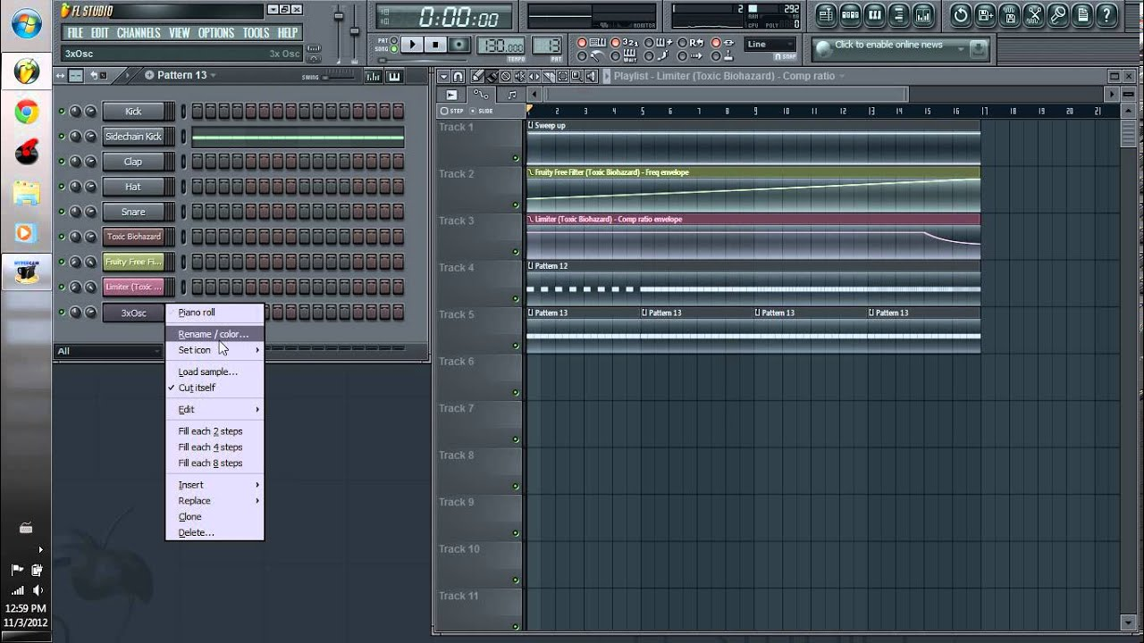 How to make a crazy build up in FL Studio 10 with Toxic Biohazard - YouTube