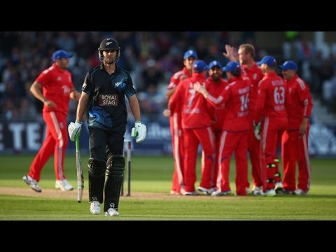 England win at Trent Bridge - 3rd ODI highlights -- New Zealand innings