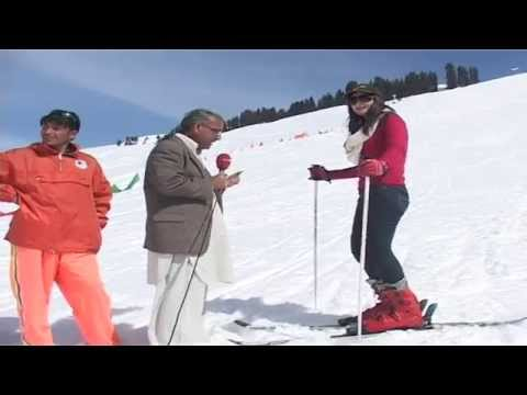 malam jabba snow festival 2014 skiing 3th day  for womens