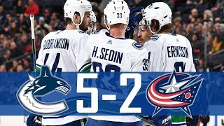 Canucks vs Blue Jackets | Highlights | Jan. 12, 2018 [HD]