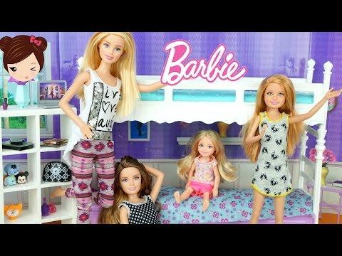 La Pijamada de Barbie y Sus Hermanas -  Historias con Barbie en Español