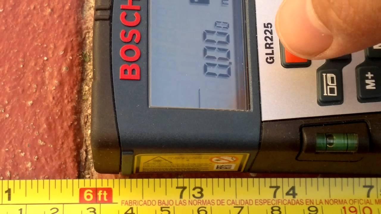 Medidor de distancia laser bosch glr 225 youtube for Medidor de distancia laser