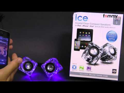 dreamGEAR� Ice Compact Speakers - Blue