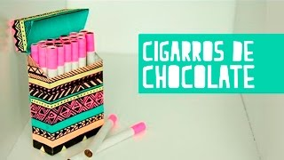 Cigarros de chocolate con cajetilla