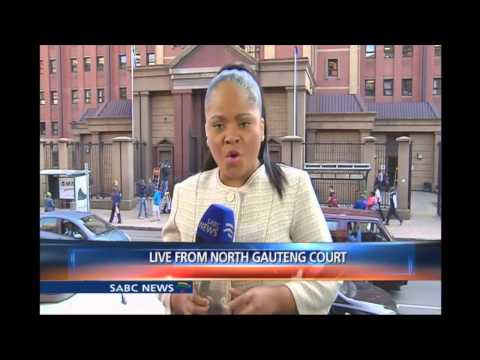 Oscar Pistorius has arrived in court, Chriselda Lewis reports
