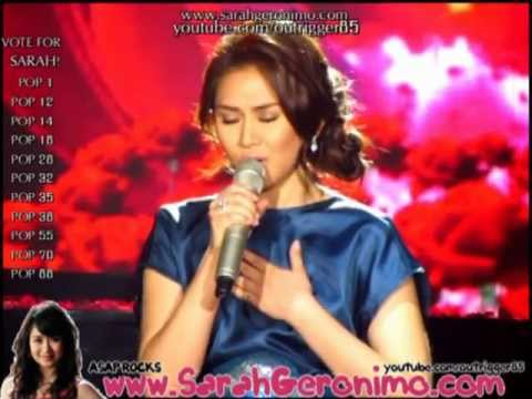 Sarah Geronimo - Someone Like You [SOS: Sarah OnStage] OFFCAM - (09Oct11)