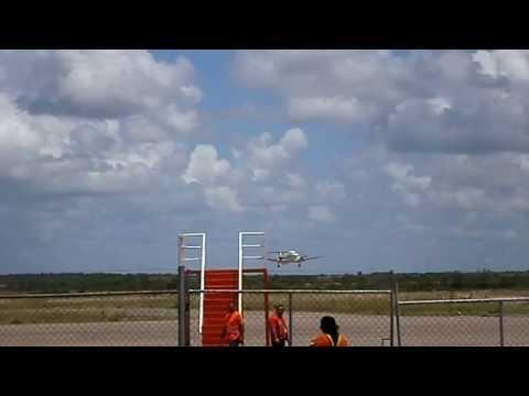 Beechcraft 1900D YV2865 de Chevron Texaco Despegue Aeropuerto de San Tomé Anzoátegui Venezuela