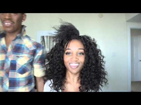 big curly weave on natural hair trevel hill bobbi boss