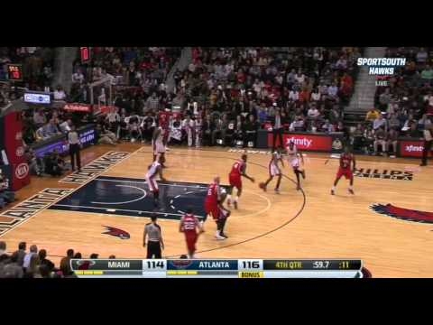 Atlanta Hawks PNR Slip Flare for Kyle Korver vs Miami Heat
