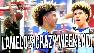 """LaMelo Ball HISTORIC AAU Weekend! First DUNK, """"ANKLE BREAKER"""", & MID-GAME FORFEIT!"""