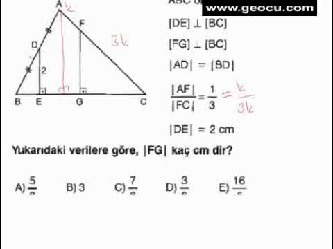 9.Sınıf Geometri üçgenlerde benzerlik