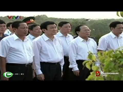 Chủ tịch nước Trương Tấn Sang viếng Nghĩa trang Liệt sĩ Phú Quốc