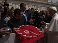 Univ. of Michigan Gives Pope Football Helmet