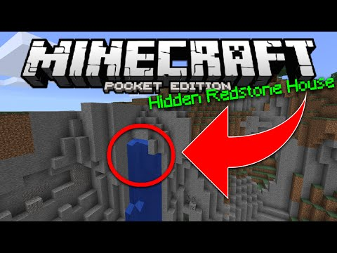 Minecraft PE Hidden Redstone House - MCPE 0.15.1 Secret Base (Pocket Edition)
