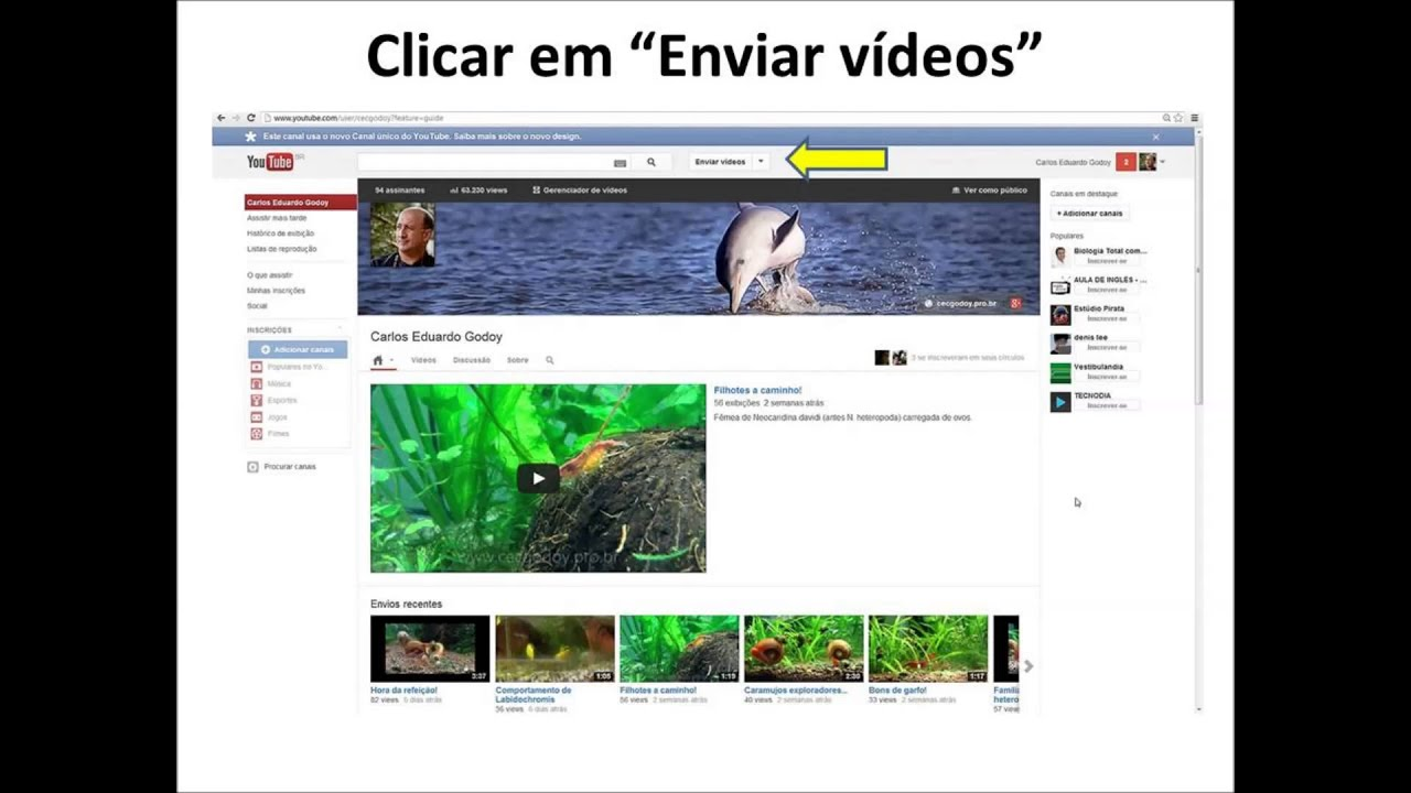 Como publicar videos no youtube passo a passo - YouTube