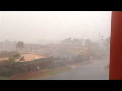 Cyclone Christine hits Port Hedland, Australia