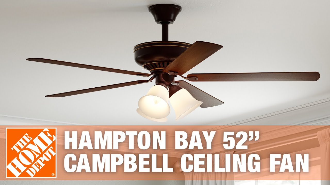 """How to Install the Hampton Bay 52"""" Campbell Ceiling Fan"""