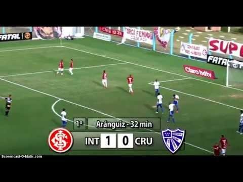 Charles Aránguiz doblete en juego de Internacional vs Cruzeiro-RS