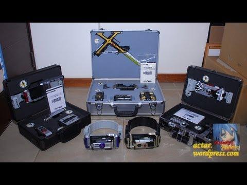 ARR - All DX Kamen Rider 555 Rider Gear & Gear Boxes Showcase (Faiz Kaixa Delta Psyga Orga)
