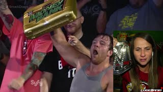 WWE Smackdown 9/26/14 Dean Ambrose Steals MITB briefcase Live Commentary