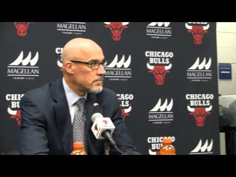Chicago Bulls John Paxson press conference after trading Luol Deng to Cavaliers