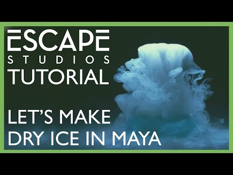 Let's make dry ice in Maya! - Escape Studios Free Tutorial Weekly