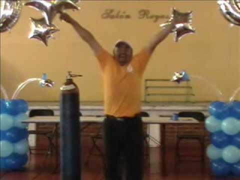 decoracion con globos xv años (mesa de honor) video 3