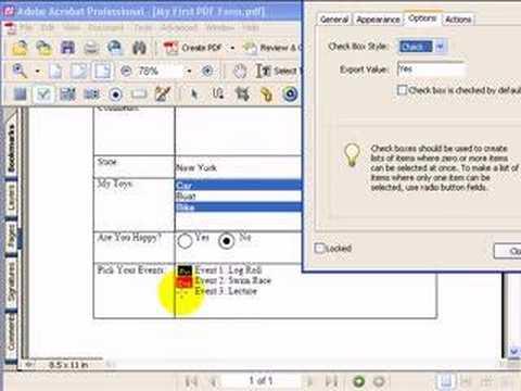 how to build a pdf form
