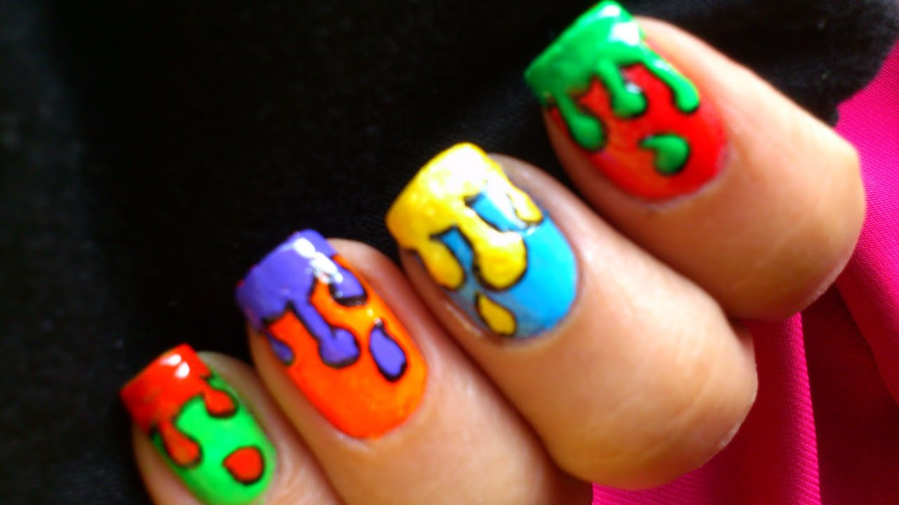 ... Nail Art Along With Easy To Do At Home Nail Art Designs. | Free Image