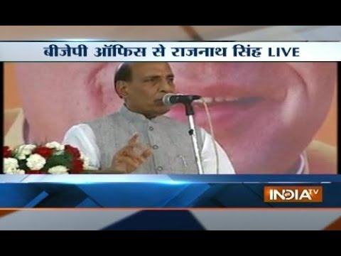 Live: Rajnath Singh addressing Media Persons in Delhi at BJP office