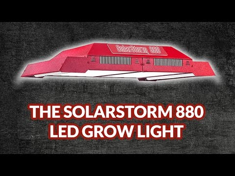 New SolarStorm 880:  One of the most powerful LED grow lights on the market