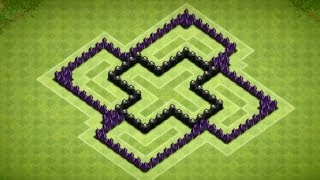 Clash Of Clans Epic Town Hall 6 Trophy Base (Artemis