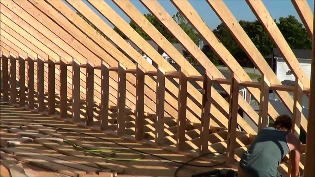 Building Attic Knee Walls 2x6 Fire Rebuild Youtube