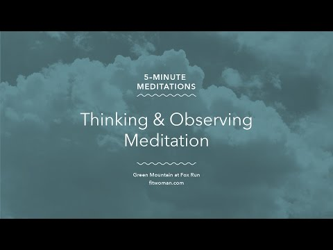 Thinking and Observing Meditation