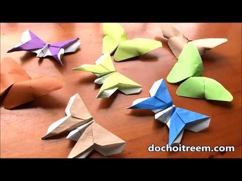 Đồ chơi trẻ em GẤP GIẤY HÌNH BƯƠM BƯỚM XINH -Origami Buterfly (Chim Xinh)