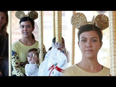 Kourtney Kardashian Takes Mason And Penelope To Disneyland Sans Scott Disick