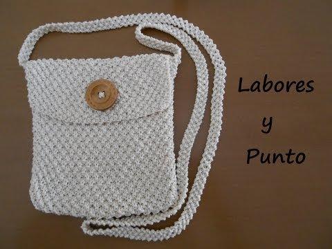 Aprende a tejer un bolso pequeño de colgar en dos agujas: Parte 1 de 3