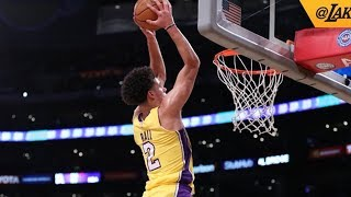 Lonzo Ball Catches Alley Oop! Exits Game Injury, NBA Preseason 2017