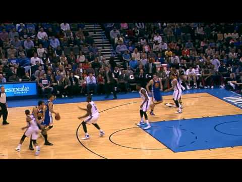 Stephen Curry Spins Serge Ibaka Around with the Killer Handles