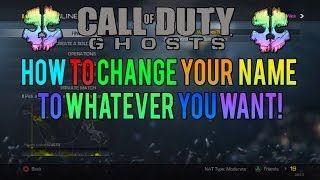 How To Change Your Name To Anything You Want In COD Ghosts