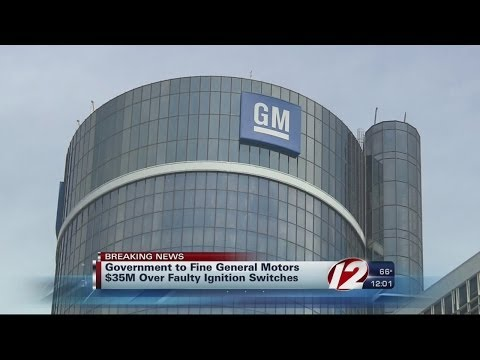 General motors being fined