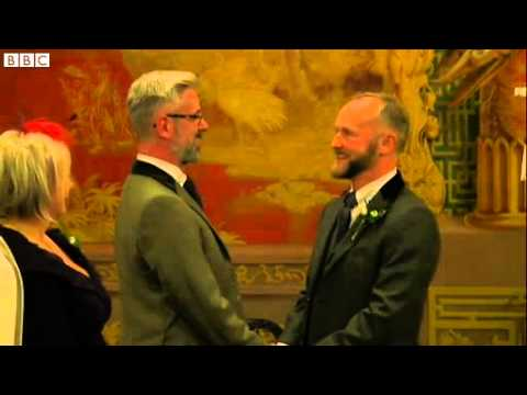 First gay couples wed as same sex marriage is legal in UK