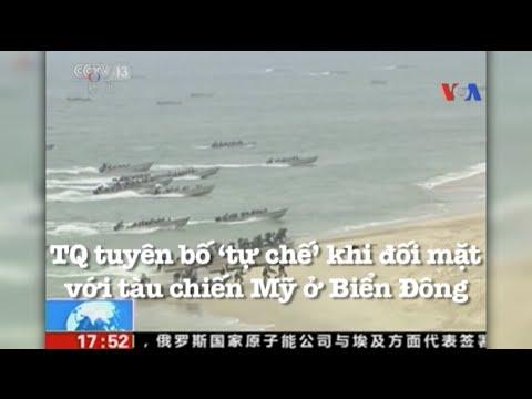 Trung Quốc tuyên bố 'tự chế' khi đối mặt với tàu chiến Mỹ ở Biển Đông