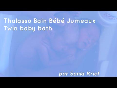 Thalasso bain bébé jumeaux