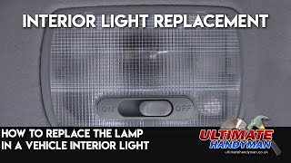 How to fix a vehicle interior light